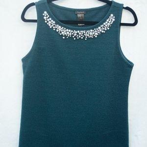 Blue-Green Shell Top |Ann Taylor | S